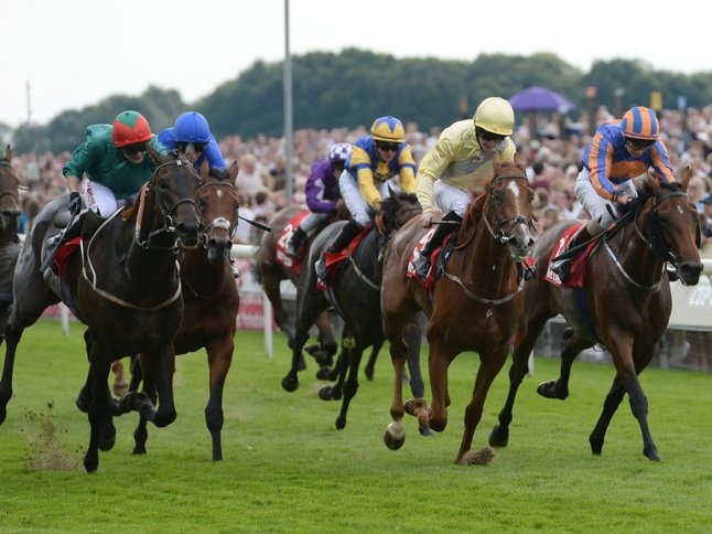 Side with Not Never (yellow silks) here. Image from Sportinglife.com